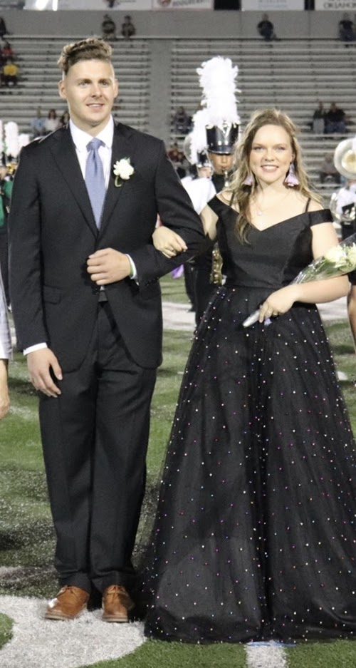 Young Republican Club King and Queen representatives for Fall Homecoming 2019. Hayley Hitt and Cade White.